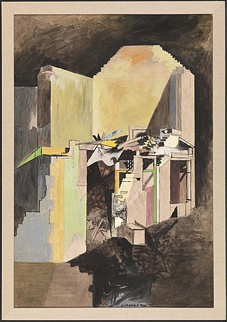 1940 in art - Image: Devastation, 1940 A House on the Welsh Border by Graham Sutherland (Tate N05734)