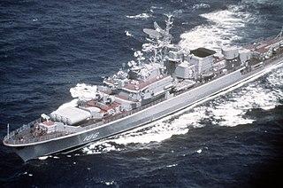 Soviet frigate <i>Deyatelnyy</i> Krivak-class frigate