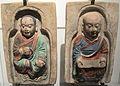 Dinastia tang, monaci seduti, da un fregio nelle grotte di mogao, 890-910 ca..JPG