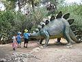 Dinosaur in yard of Nature Museum, Jerusalem.JPG