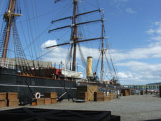 Robert Falcon Scott - Discovery in 2005 at its home port of Dundee