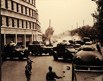 Type 93 Armoured Car - Japanese armored cars in the Battle for Shanghai. Vickers Crossley Armoured Cars and a Type 93 Armoured Car (second from left) are shown