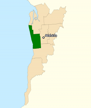 Division of Hindmarsh - Division of Hindmarsh in South Australia, as of the 2016 federal election.