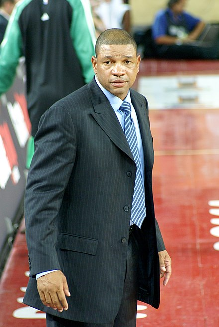 Head coach Doc Rivers led the Celtics to an NBA title in 2008. Doc Rivers.JPG