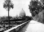 Dome of St. Peter's from Vatican gardens.jpg