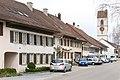 Dorfstrasse mit Turm der Reformierten Kirche in Wiesendangen ZH.jpg