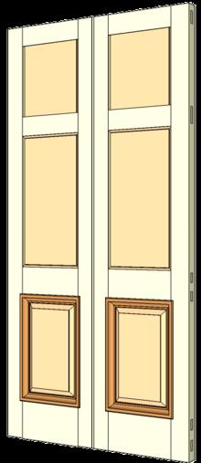 S&le of a Double margin door.