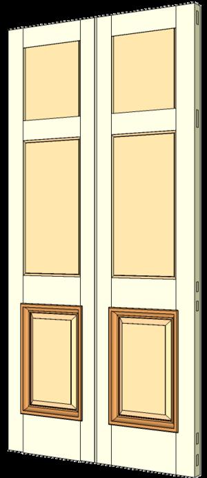Double margin doors - Example of a double margin door.