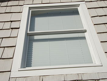 English: Double hung window