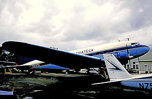 Aviateca - Aviateca Douglas DC-3 at Fort Lauderdale in February 1971