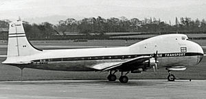 Aviation Traders Carvair - Carvair of Compagnie Air Transport, France, at Manchester Airport in 1967
