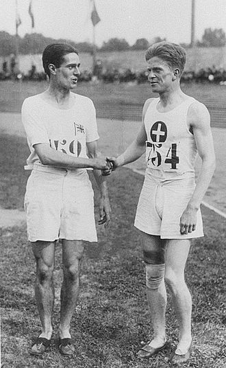 Paul Martin (athlete) - Douglas Lowe and Paul Martin (right) at the 1924 Olympics