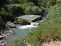 Down at Spanish Fork river division dam from Dripping Rock Trail, Jul 15.jpg