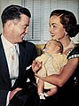Dr. Jim McNulty, baby Timothy Patrick, and Ann Blyth, 1954.jpg