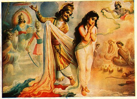 Image result for draupadi vastrapaharanam english painter