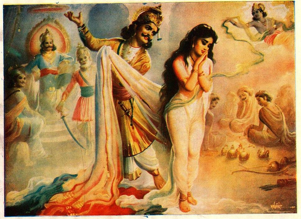 Draupadi & dushashan scene