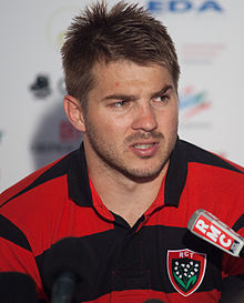 Description de l'image Drew Mitchell - US Oyonnax - Rugby club toulonnais, 28th September 2013 (cropped).jpg.