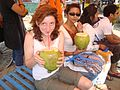 Drinking green coconut at Cox's Bazar (3993491295).jpg