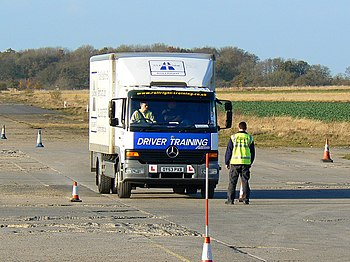 English: Driver training, Enstone airfield, Ox...