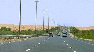 road in the United Arab Emirates
