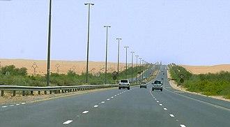 E 66 road (United Arab Emirates) - Image: Dubai Al Ain Road