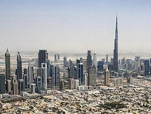 Economy of the United Arab Emirates - Image: Dubai skyline 2015 (crop)