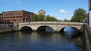 Father Mathew Bridge road bridge spanning the River Liffey in Dublin, Ireland