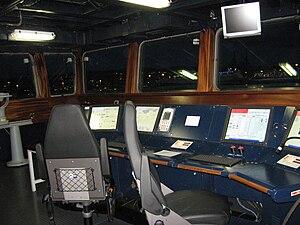 Italian destroyer Caio Duilio - The PMS console on bridge.