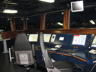 Italian destroyer Caio Duilio - The PMS console on bridge.
