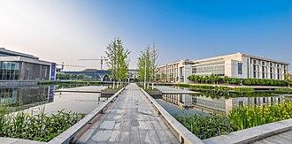 Kunshan - Panorama of Duke Kunshan University, a Sino-American joint venture between Duke University and Wuhan University