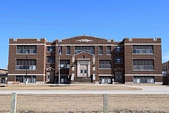 Iowa Highway 281 - Iowa 281 passes Dunkerton High School in Dunkerton.