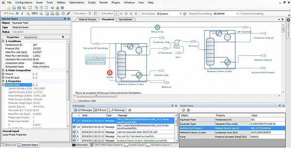 Screenshot of a process simulation software (DWSIM). Dwsim 20 windows.jpg