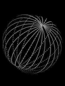 a relatively simple arrangement of multiple dyson rings of the type  pictured above, to form a more complex dyson swarm  rings' orbital radii  are spaced