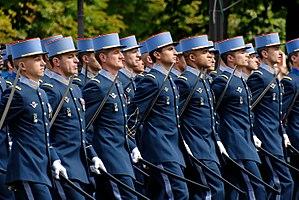 Bastille Day military parade - Cadets of the École militaire interarmes at the 2007 Bastille Day Military Parade in Paris