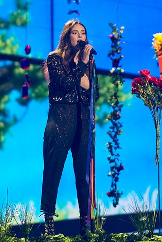 Italy in the Eurovision Song Contest 2016 - Francesca Michielin during a rehearsal before the final