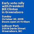 Early vote rally with President Bill Clinton in Greensboro.jpg