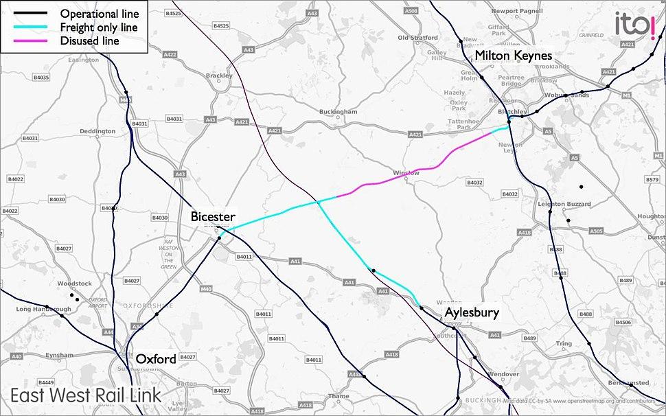 East West Rail Consortium Western map