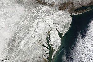February 5–6, 2010 North American blizzard - Snow-covered Mid-Atlantic region of the United States