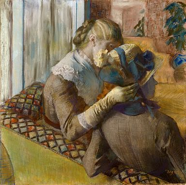 Edgar Degas - At the Milliners 1881