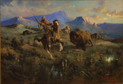 Edgar Samuel Paxson - Buffalo Hunt