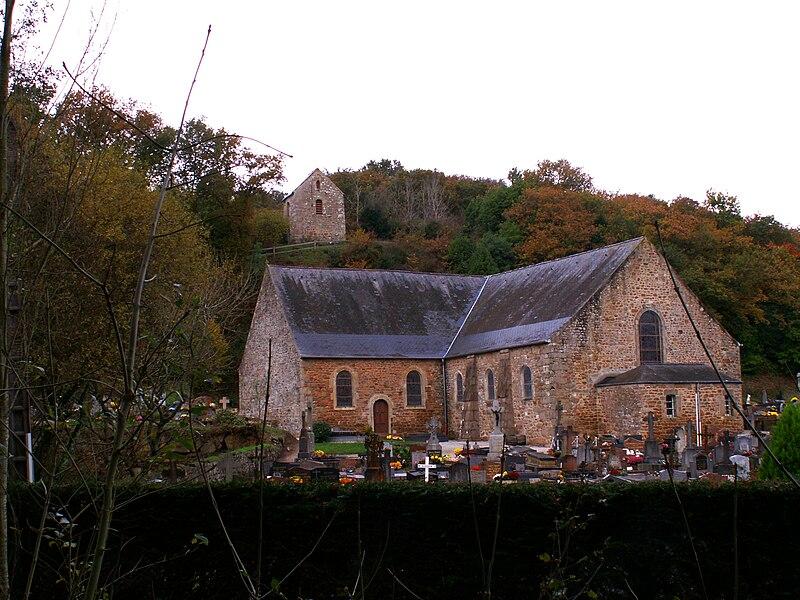 Eglise de Fermanville (Manche, France), au hameau du Moulin