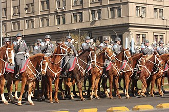 Mounted band - A mounted military band of the Chilean Army, in 2011