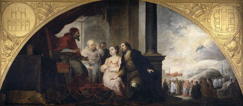Archivo: El patricio revelación do sueño al papa Liberio.jpg