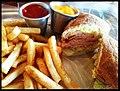 El porfiado Canadian Bacon Sandwich... @ Big Bite BBQ, SV.jpg