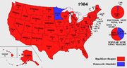 In the 1984 election, Ronald Reagan won 49 states in one of the largest ever election victories.