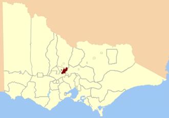 Electoral district of Castlemaine - Location in Victoria