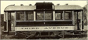Third Avenue Railway - 1909 3rd Avenue Gasoline-Electric streetcar.