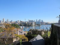 Looking across Rushcutters Bay towards Elizabeth Point from Yarranabbe Road, Darling Point