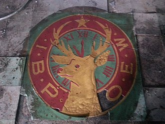 Kennedy Farm - Black Elk's logo, once a prominent feature of the old dancehall floor.