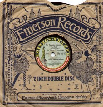 Emerson Records - Early 7-inch Emerson Record in its original paper sleeve